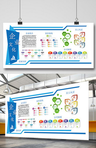 体企业文化墙模板