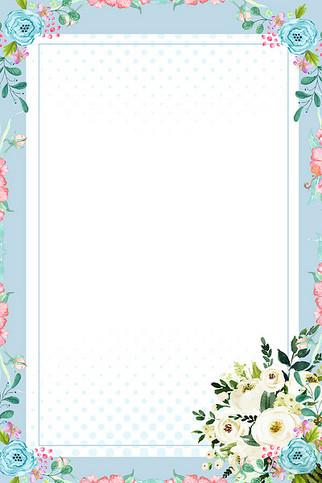 简约小清新花卉几何新品上新背景海报