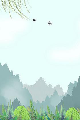 二十四节气春分清明谷雨背景素材