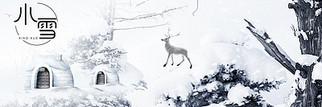 冬季雪花立冬背景模板