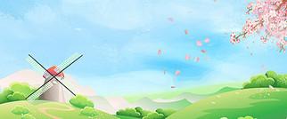 春分节日立春背景素材