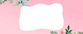 小清新花卉春季上新粉色淘宝促销背景