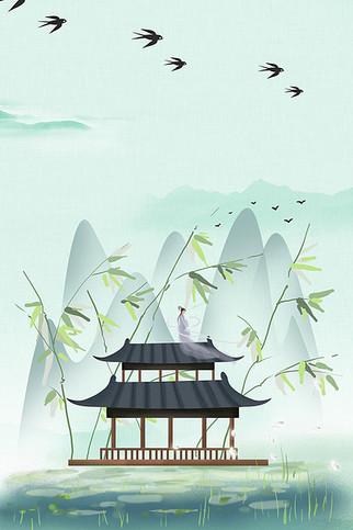 24节气春季海报背景