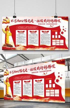 中国风党建文化墙中国梦社区企业宣传栏展板