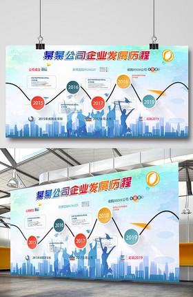 企业发展历程企业文化展板设计