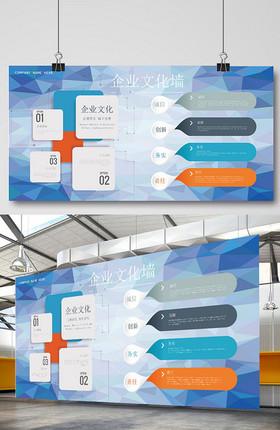 创意企业文化墙展板