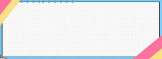 蓝色极简几何线条边框背景