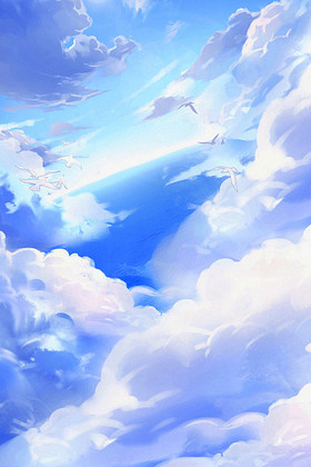 卡通蓝天白云下载