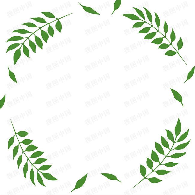 本春天浪漫树叶边框相框流线素材来源于社稷网官方网站中的元素版块.