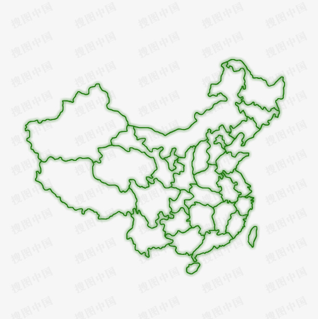本绿色中国地图素材来源于社稷网官方网站中的元素版块.