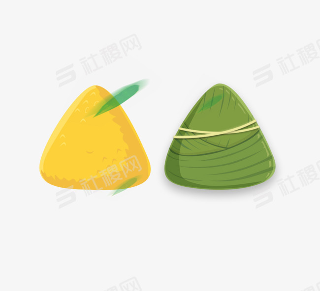 端午节卡通粽子粽叶元素
