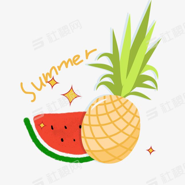 夏天来了装饰西瓜夏日元素