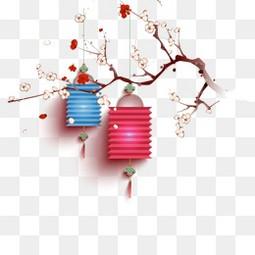 新年喜庆年货节梅花灯笼