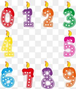 10款生日蛋糕数字蜡烛
