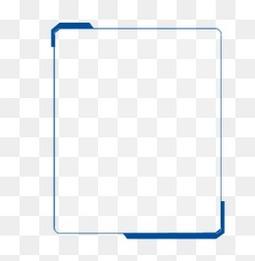 蓝色简约边框