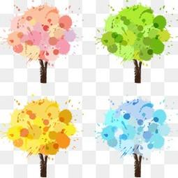 春天 春夏秋冬 大树 冬天 动画