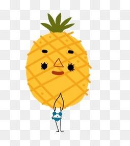 卡通菠萝人