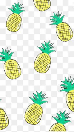 卡通菠萝底纹背景