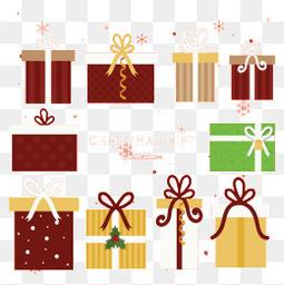 10款圣诞礼盒矢量