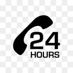 7*24小时服务标志图标