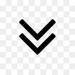 向下的双尖括号符号图标