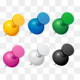 彩色小图钉