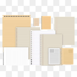 10款活页笔记本设计矢量素材