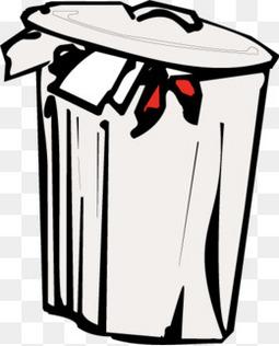 卡通垃圾桶矢量