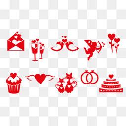10款红色情人节图标