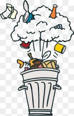 卡通垃圾垃圾桶矢量