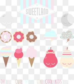 10款美味甜品矢量素材