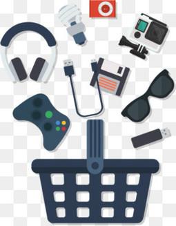 10款精致电子产品和购物篮