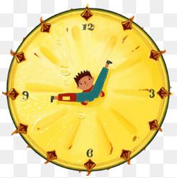 卡通菠萝时钟