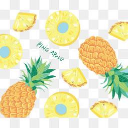 卡通菠萝背景图案