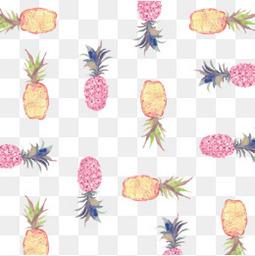 卡通菠萝背景