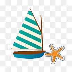 夏日元素帆船