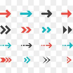 各种不同形状的箭头
