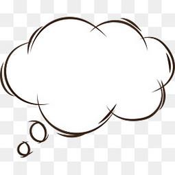 手绘思考气泡对话框