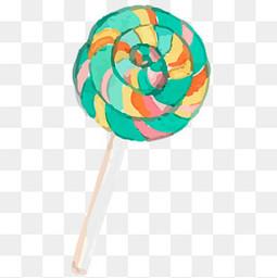 卡通手绘棒棒糖食物设计