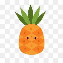 卡通菠萝植物设计