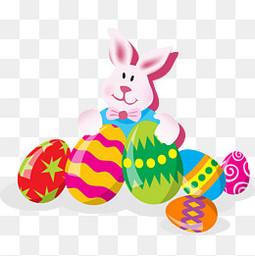 复活节的兔子和彩蛋