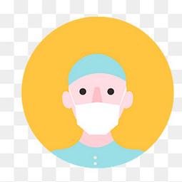 卡通戴口罩的医生人物设计