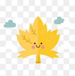黄色秋季的落叶设计