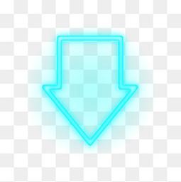 蓝色霓虹灯向下箭头