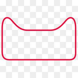 简约天猫红色边框设计
