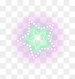 矢量霓虹星星