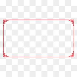 中国红回纹简约边框