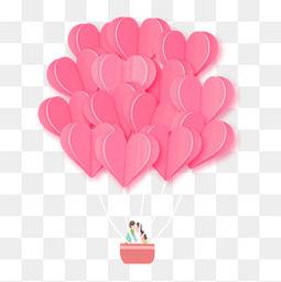 粉色热气球情侣