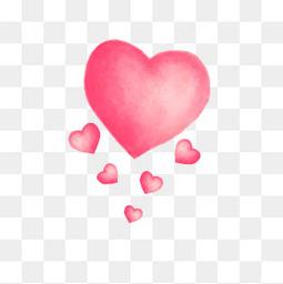 粉色爱心浪漫