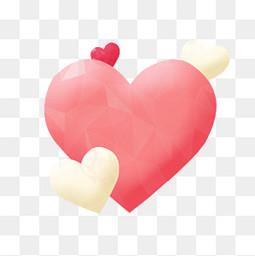 粉色米色立体爱心气球